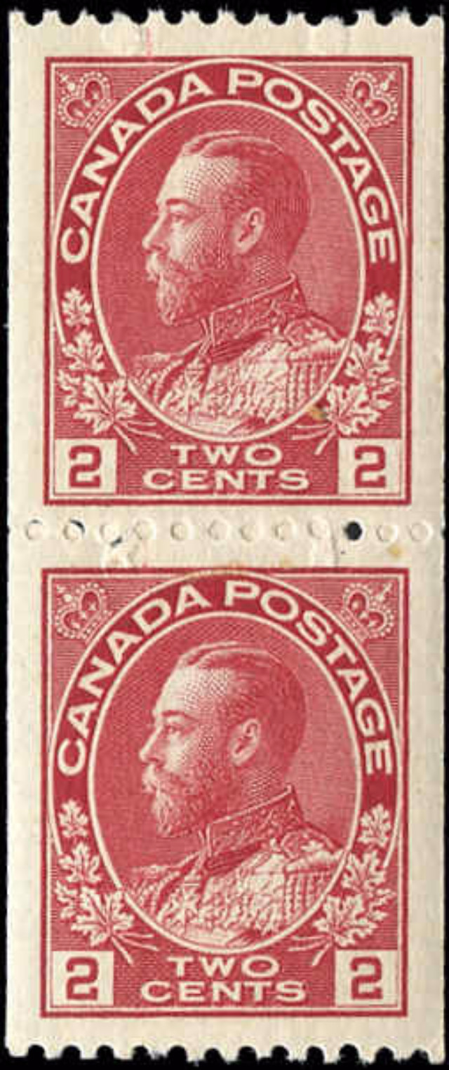 Canada Stamp, Scott #132 Pair, VF, MH