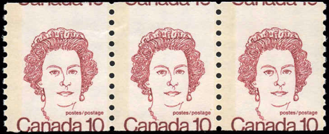 Canada #605, Coil Caricature Issue, MNH