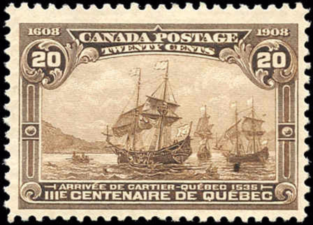 Canada #103, Tercentenary Issue, F-VF, MH