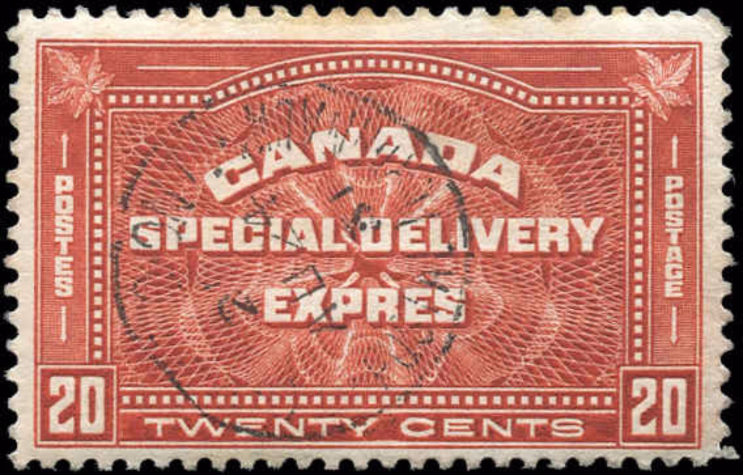 Canada #E4, Special Delivery Issue, F-VF, Used