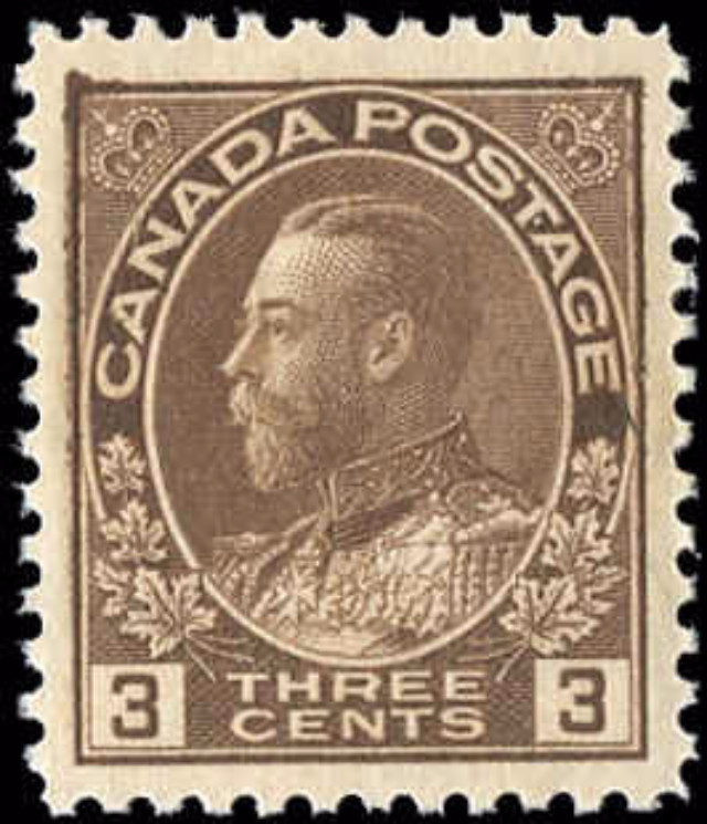 Canada #108, Admiral Issue, VF, MNH