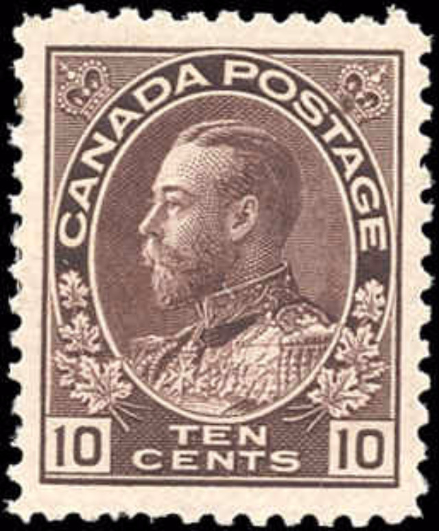 Canada #116, Admiral Issue, VF, MH