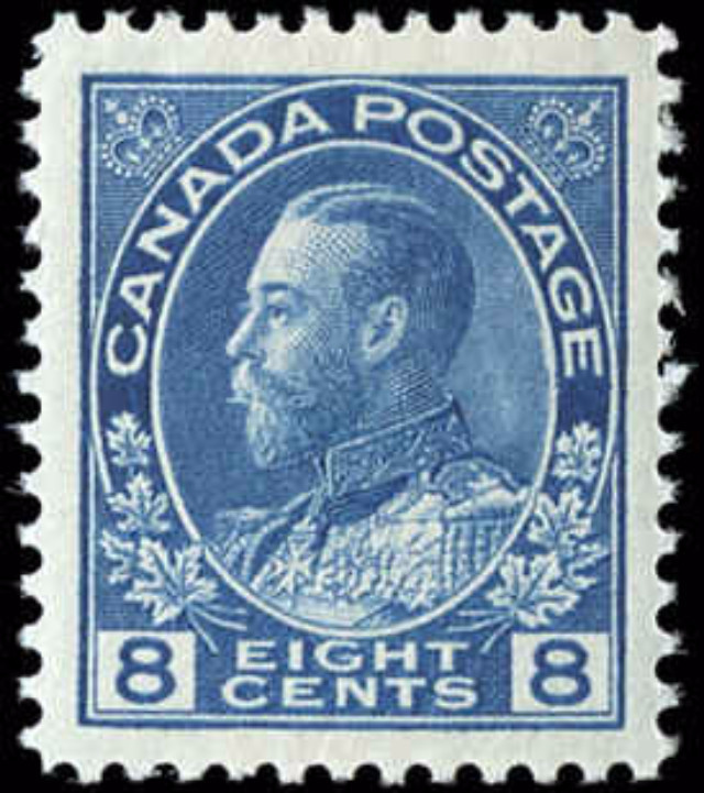 Canada #115, Admiral Issue, VF, MH