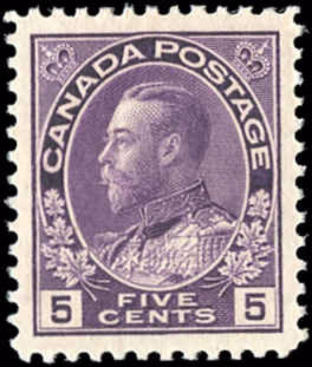 Canada #112, Admiral Issue, VF, MH
