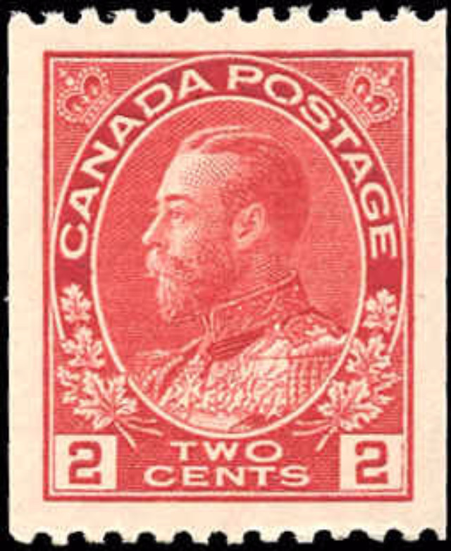 Canada #132, Admiral Issue, VF+, MH