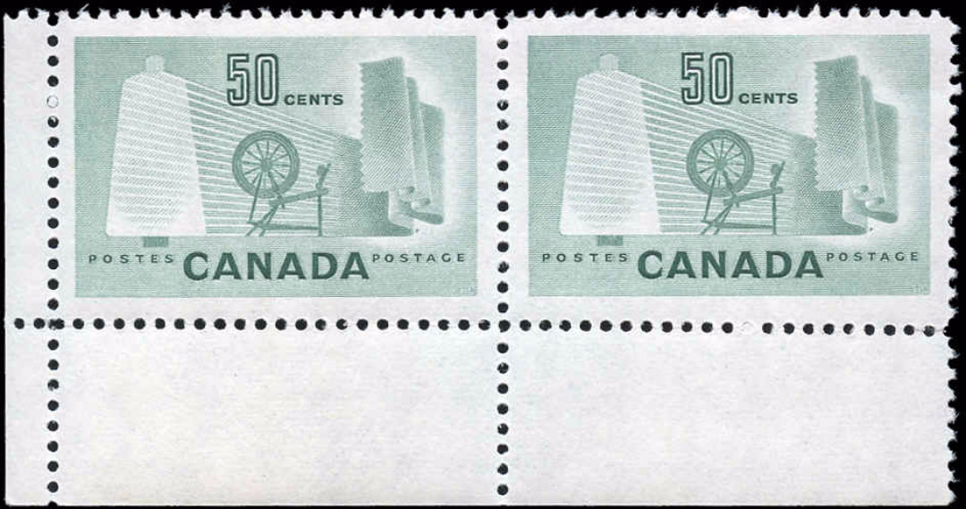 Canada #334, Textile Issue, VF, MNH