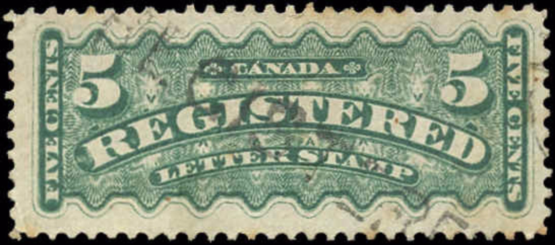 Canada #F2, Registration Issue, F-VF, Used