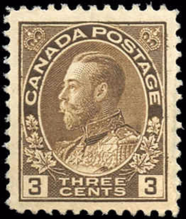 Canada #108, Admiral Issue, F-VF, MNH