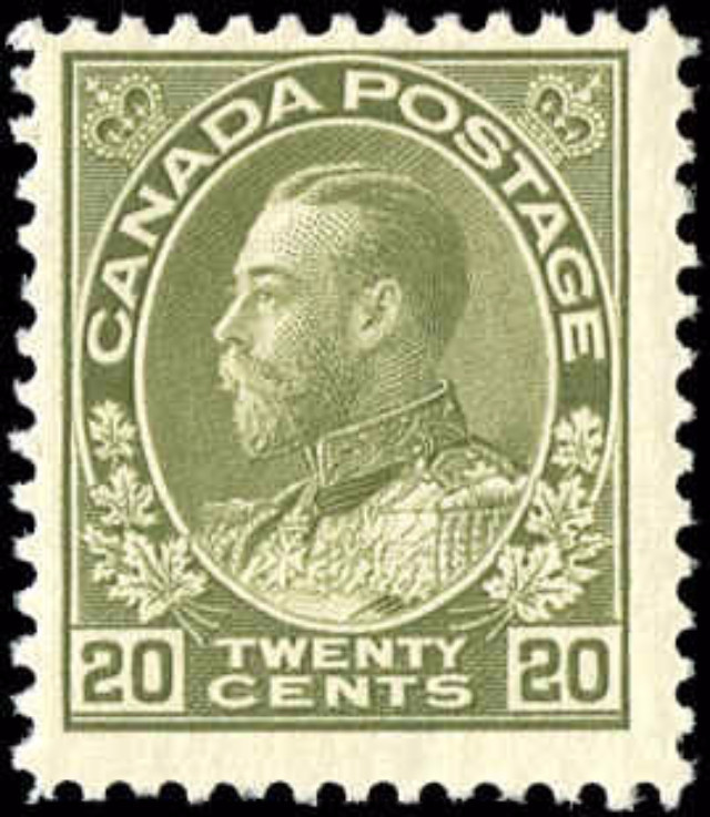 Canada #119, Admiral Issue, F, MH