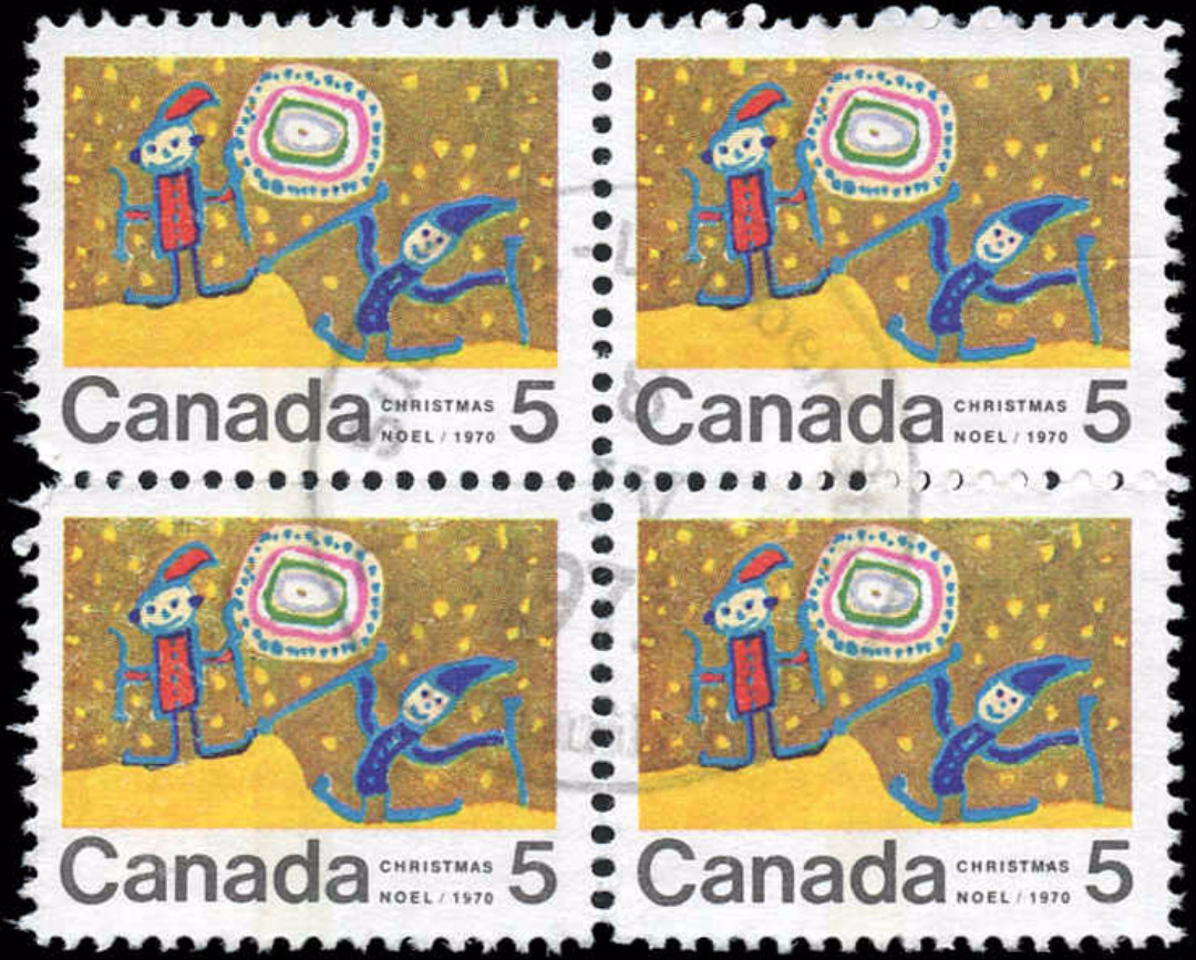 Canada #522pii, Christmas Issue, VF, Used