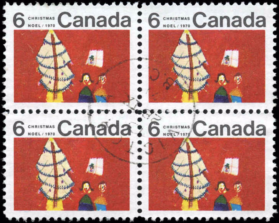 Canada #525ii, Christmas Issue, VF, Used