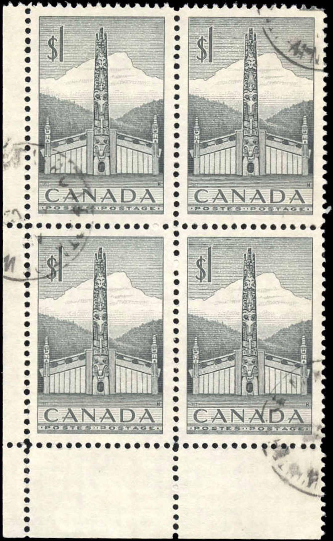 Canada #321, Totem Pole Issue, VF, Used