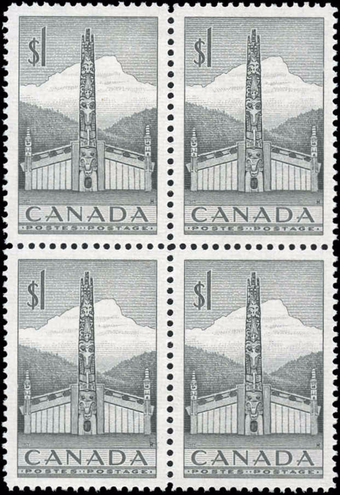 Canada #321, Totem Pole Issue, VF, MH