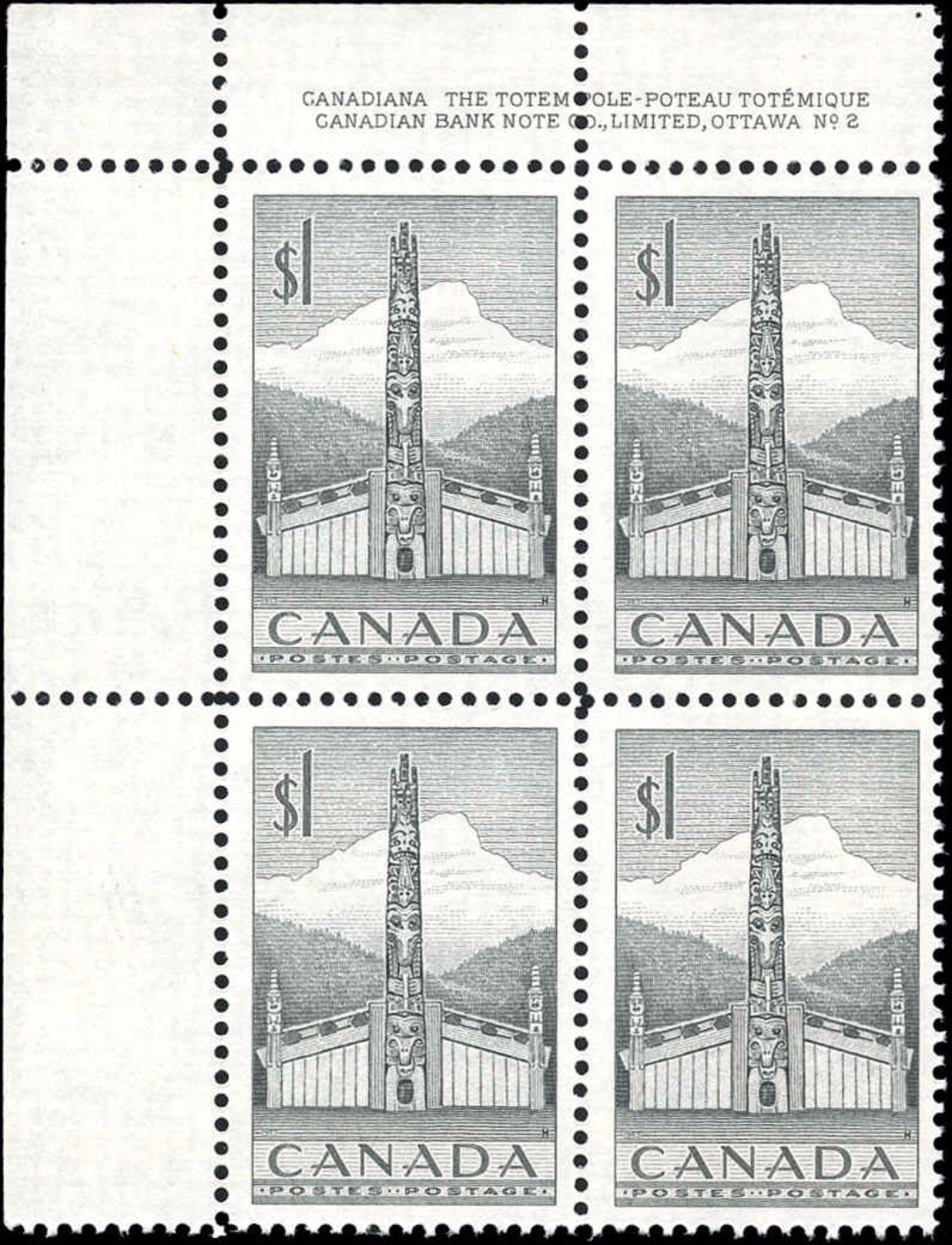 Canada #321, Totem Pole Issue, F-VF, MNH