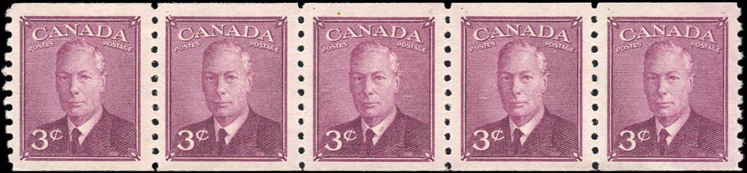 Canada #299, Coil Pte-Ptage Issue, F-VF, MNH