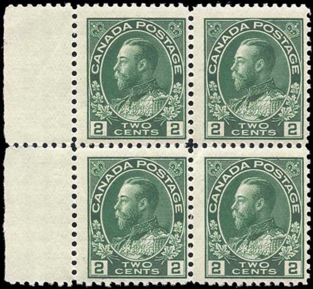 Canada #107, Admiral Issue, F, MNH
