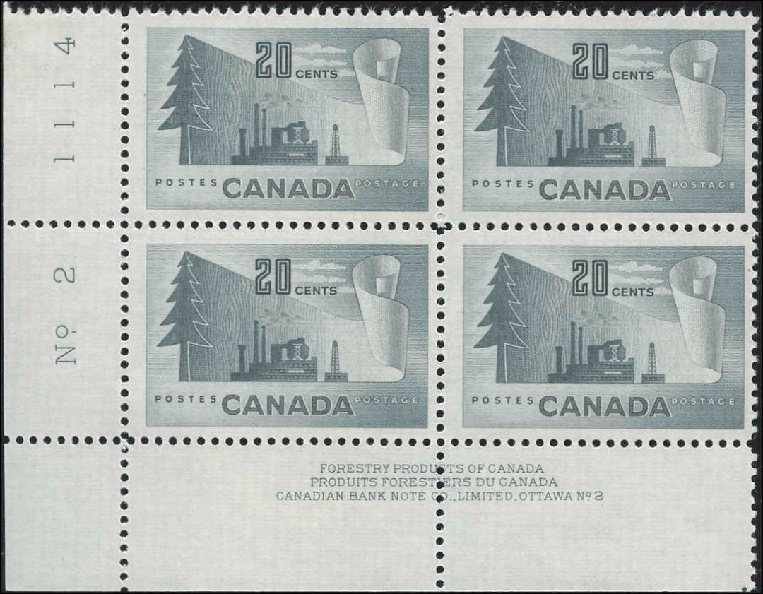 Canada #316, Forest Product Issue, F-VF, MNH