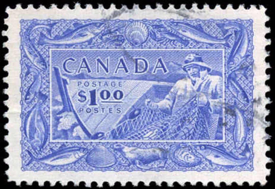 Canada #302, Fish Resources Issue, VF, Used