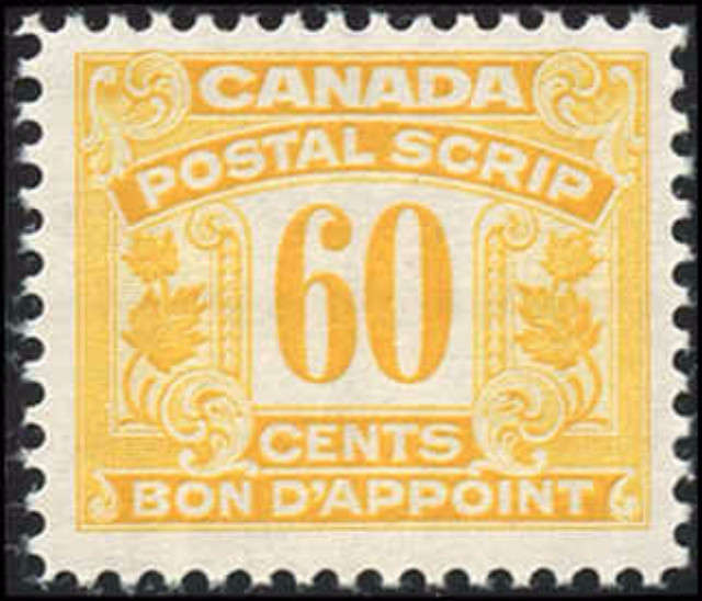 Canada FPS#55, F-VF, MNH