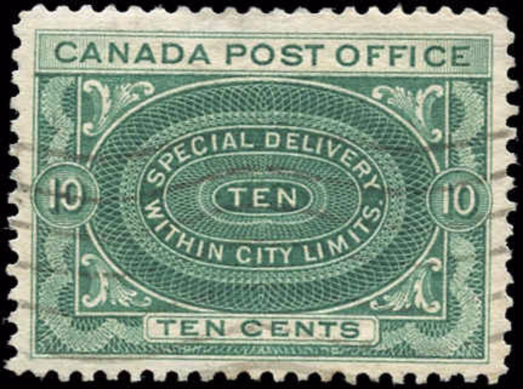 Canada #E1, Special Delivery Issue, F-VF, Used