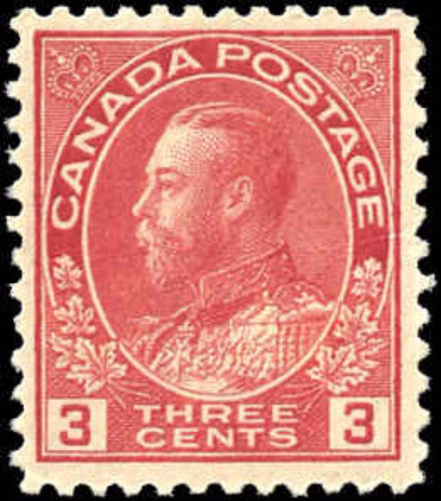 Canada #109c, Admiral Issue, F-VF, MNH