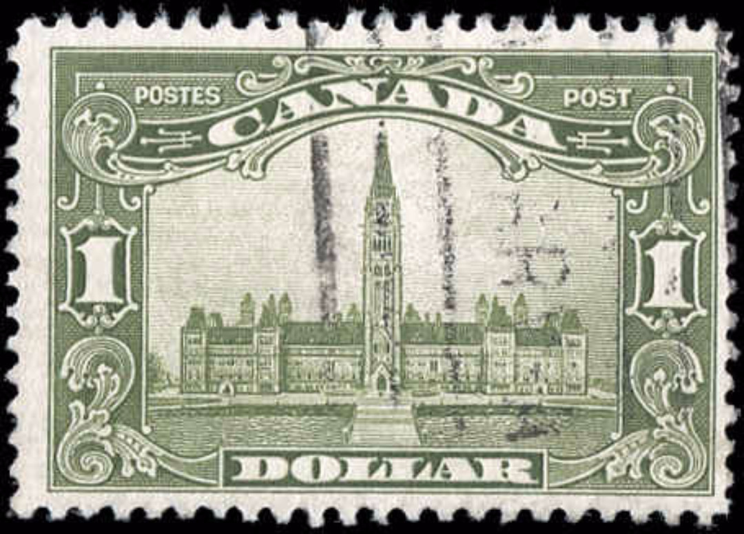 Canada #159, Scroll Issue, F, Used