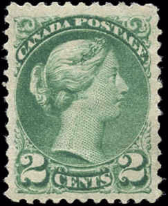 Canada ##36, Small Queen Issue, VF, MH