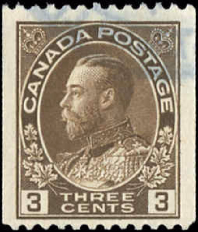 Canada #134, Admiral Issue, F-VF, Used