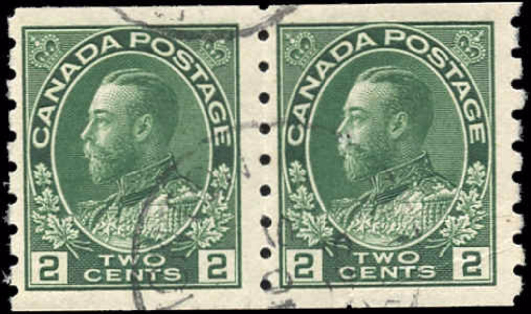Canada #128, Admiral Issue, F-VF, Used