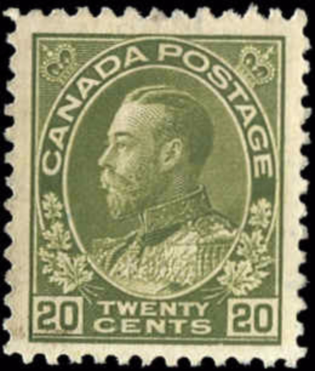 Canada #119, Admiral Issue, VF, Used