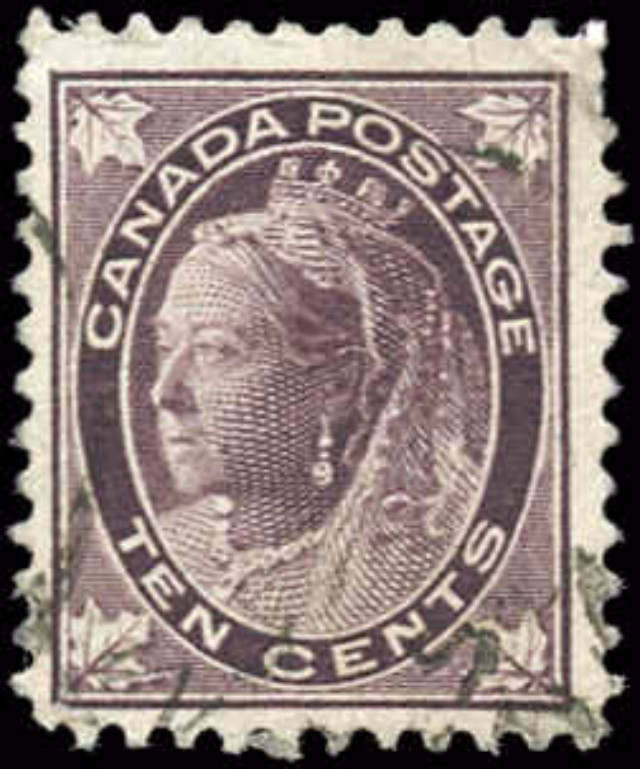Canada ##73, Maple Leaf Issue, F+, Used