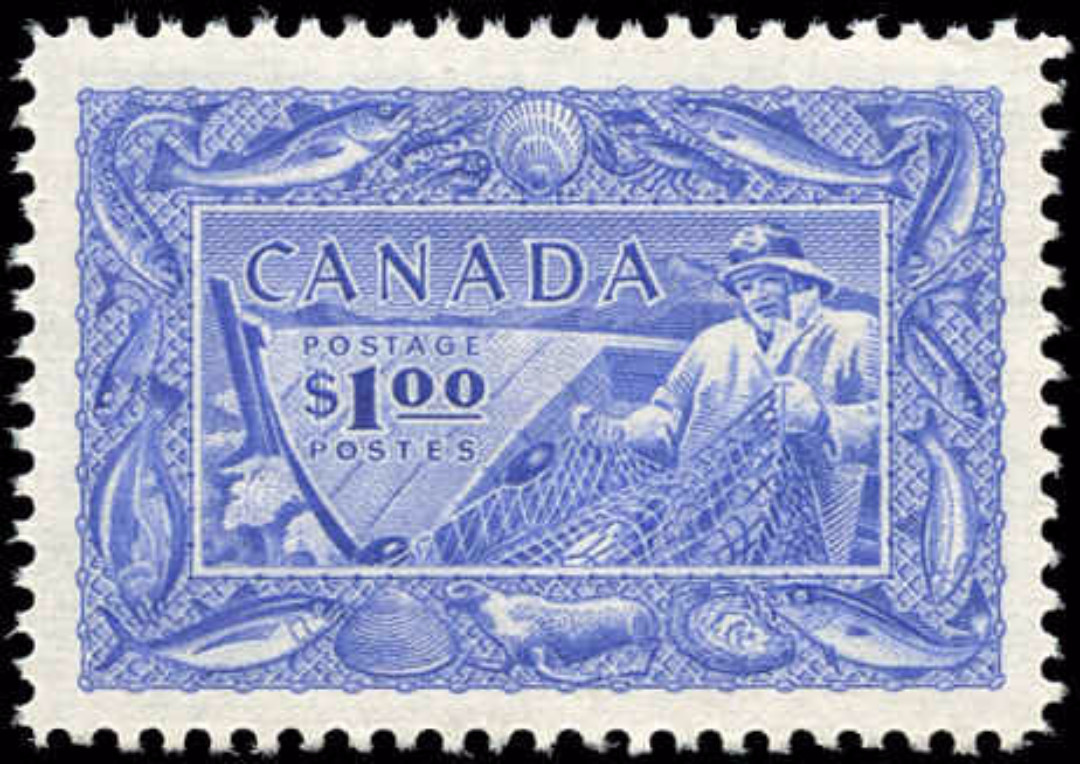 Canada #302, Fish Resources Issue, F-VF, MNH