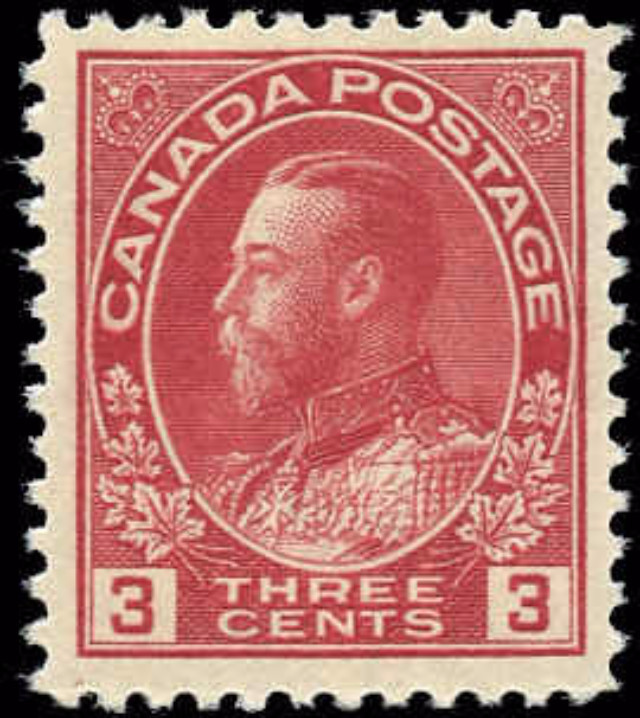 Canada #109, Admiral Issue, F-VF, MNH