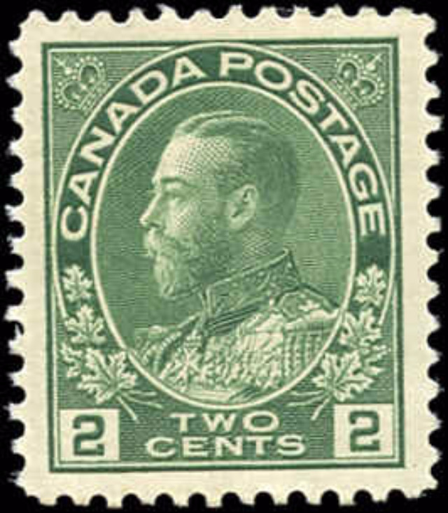 Canada #107, Admiral Issue, VF, MNH