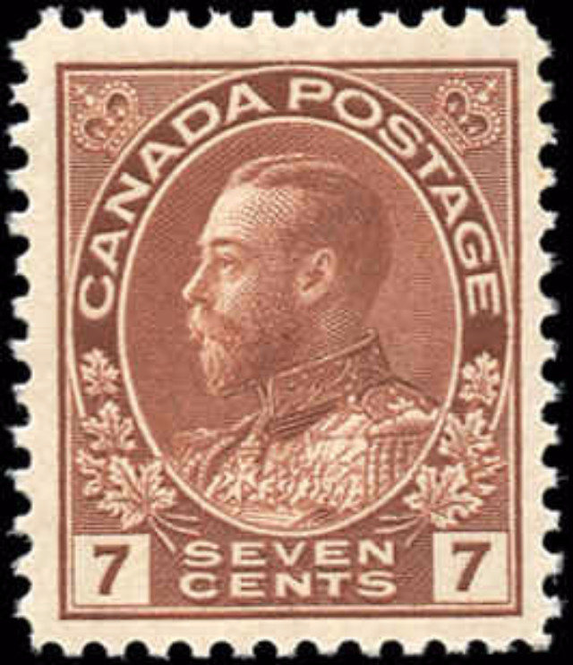 Canada #114, Admiral Issue, F-VF, MNH