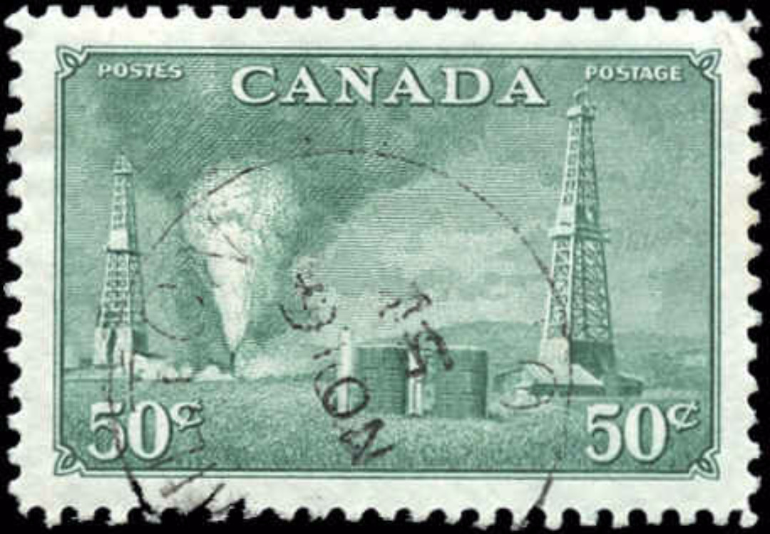 Canada #294, Oil Wells Issue, VF, Used