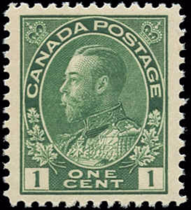 Canada #104ii, Admiral Issue, F-VF, MNH