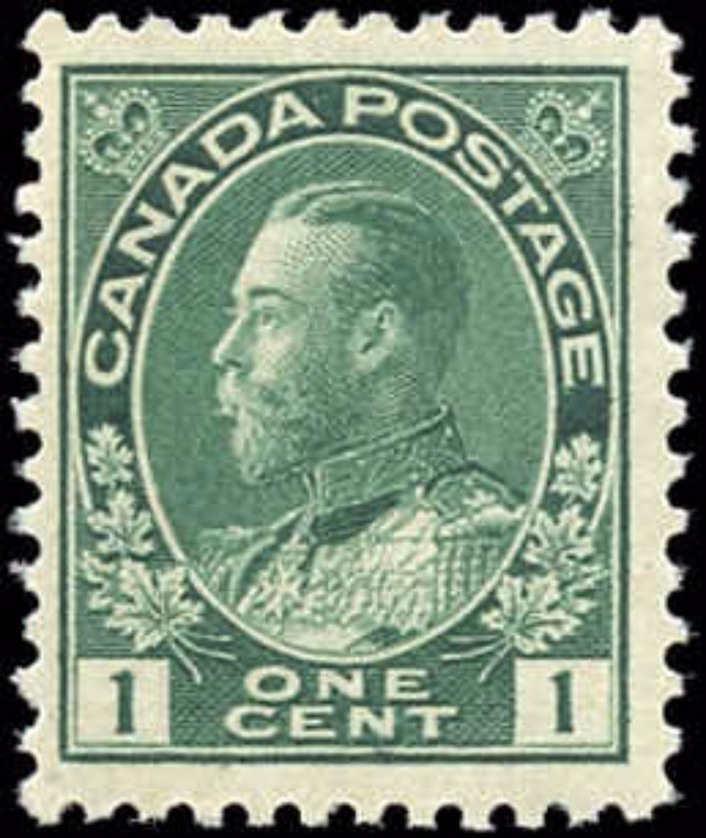 Canada #104, Admiral Issue, F-VF, MNH