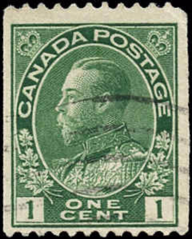 Canada #131, Admiral Issue, F, Used