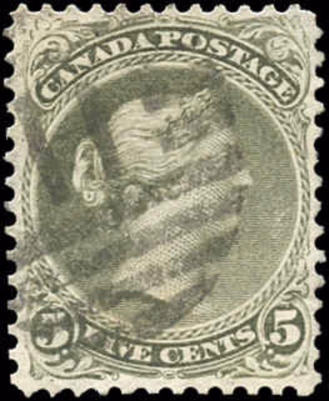 Canada ##26a, Large Queen Issue, VG-F, Used