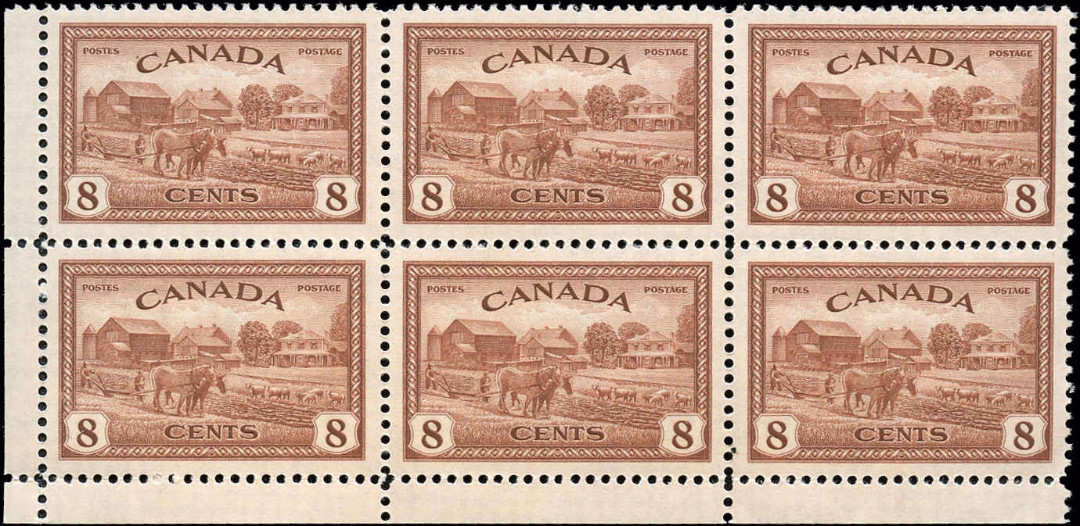 Canada #268, Peace Issue, VF, MNH