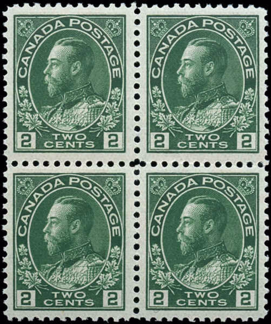 Canada Stamp, Scott #107a Block, VF, MNH