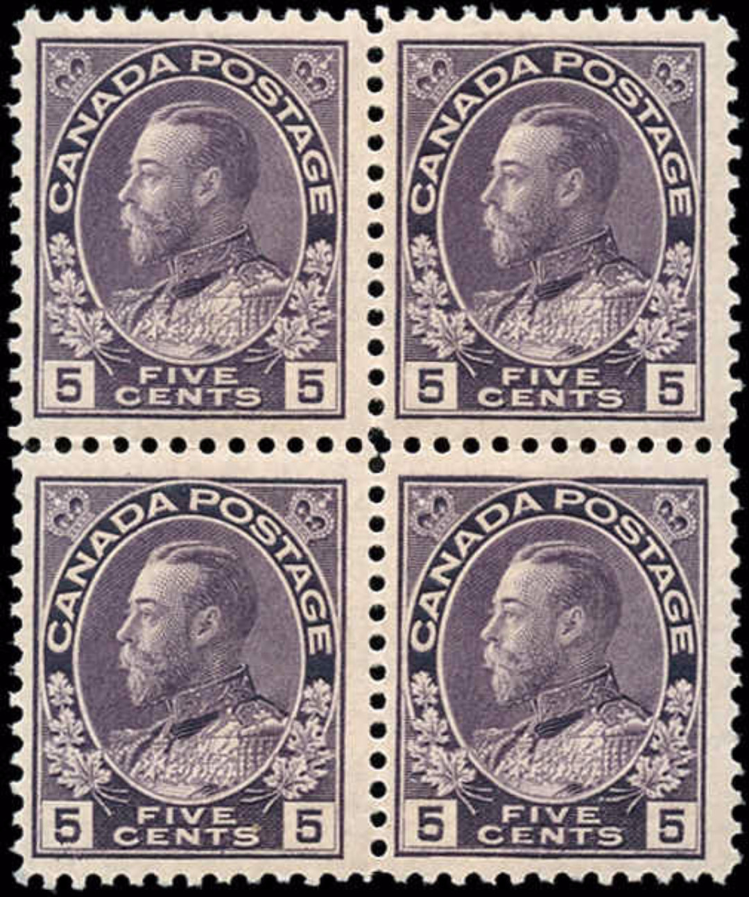 Canada Stamp, Scott #112 Block, F-VF, MNH