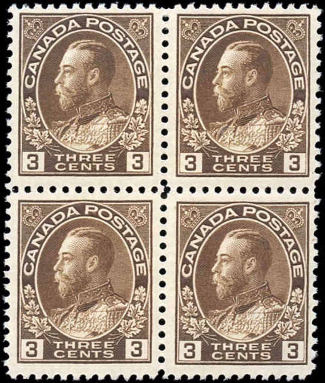 Canada Stamp, Scott #108 Block, F-VF, MNH