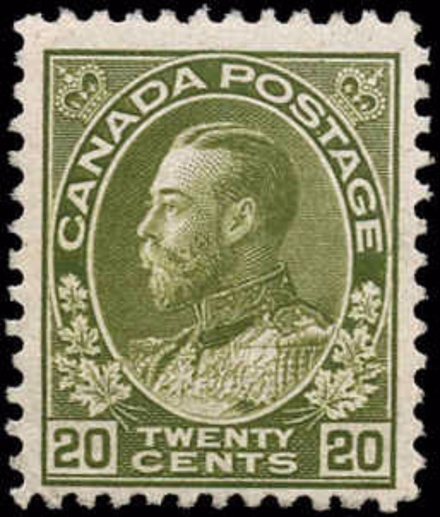 Canada #119, Admiral Issue, F+, MNH
