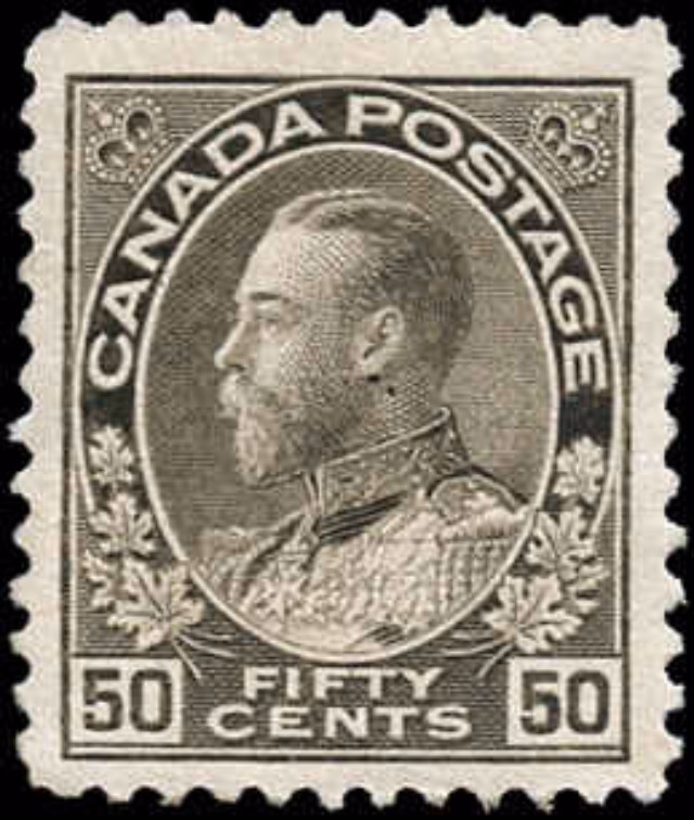 Canada #120, Admiral Issue, F-VF, MNH