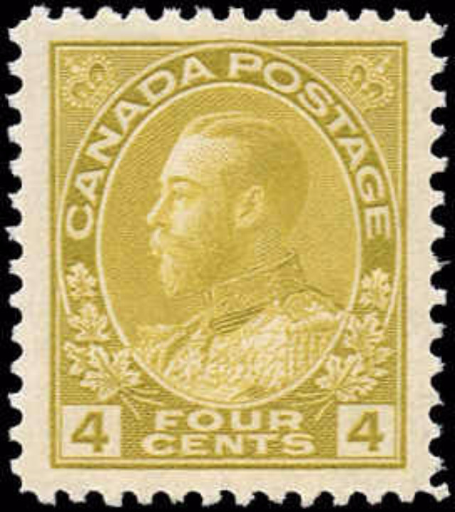 Canada #110, Admiral Issue, VF, MNH