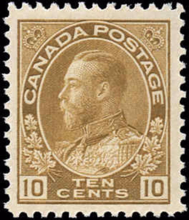 Canada #118, Admiral Issue, F-VF, MNH