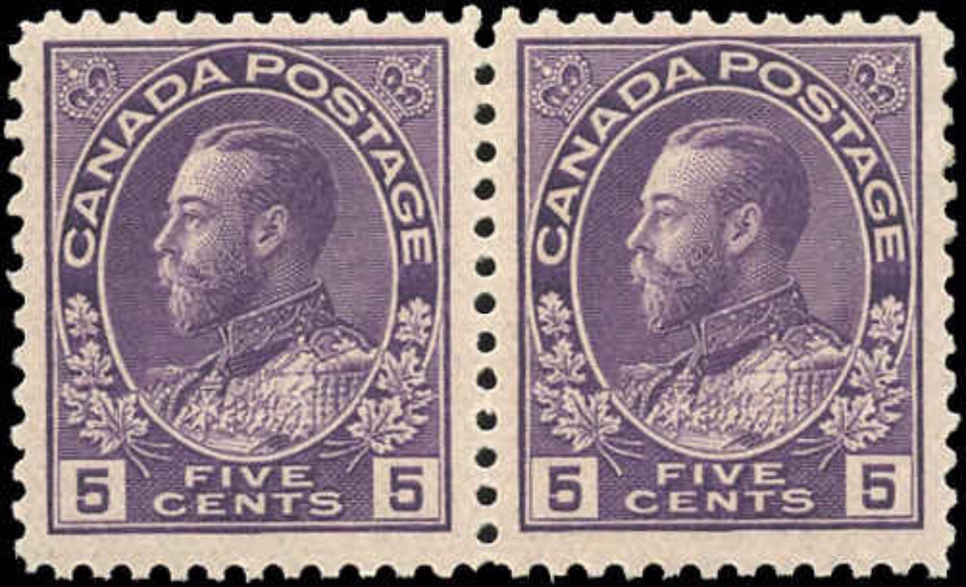 Canada #112, Admiral Issue, F-VF, MNH