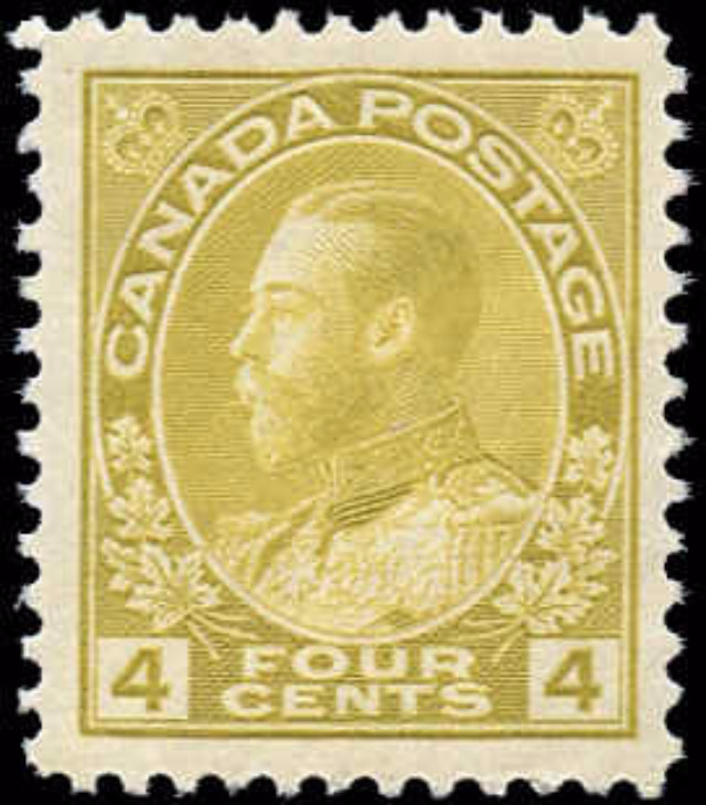 Canada #110, Admiral Issue, F-VF, MNH